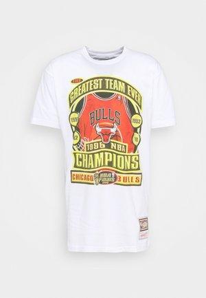 NBA CHICAGO BULLS CHAMPIONS TEE - Club wear - white