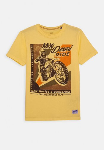 JPRBRETT TEE CREW NECK - T-shirt med print - sun yellow