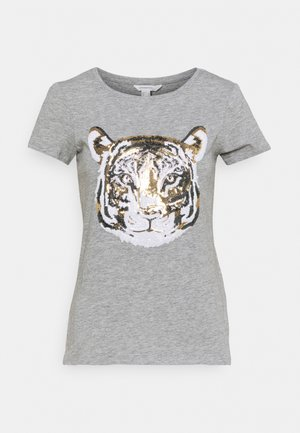 SEQUEENS - T-shirts med print - dark grey