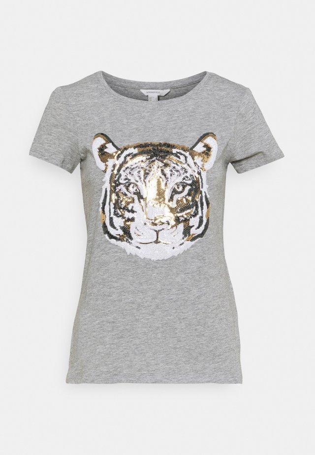 SEQUEENS - T-shirt con stampa - dark grey