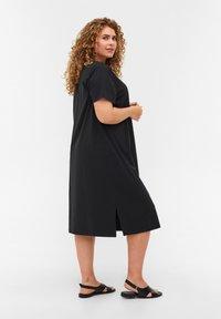 Zizzi - MIT SCHLITZ - Jersey dress - black - 2