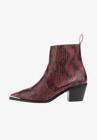 Flattered - Cowboy/biker ankle boot - bordeaux - 0