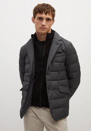 JOE - Gewatteerde jas - dunkelgrau meliert