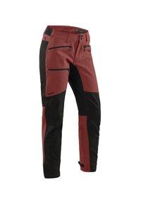 Haglöfs - RUGGED FLEX PANT - Outdoor trousers - maroon red/true black - 2