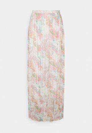 SLIT PRINT SKIRT - Maxi sukně - pastelle abstract