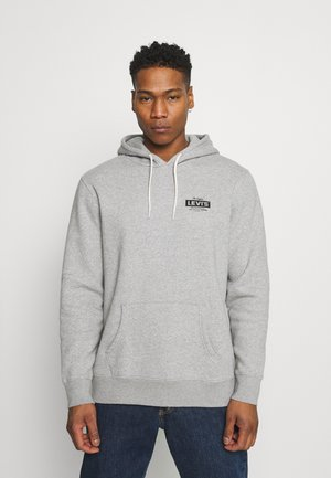 GRAPHIC HOODIE - Collegepaita - mottled grey
