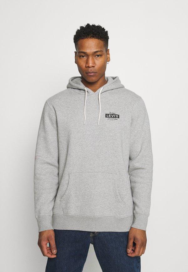 Levi's® GRAPHIC HOODIE - Bluza - mottled grey/szary melanż Odzież Męska RLUV