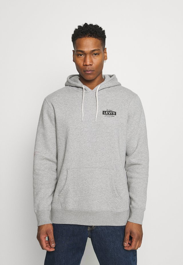 GRAPHIC HOODIE - Mikina - mottled grey