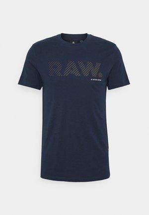 RAW LOGO SLIM  - Printtipaita - sartho blue