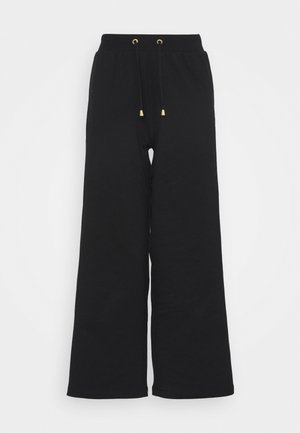 Straight Leg Basic Jogger - Tracksuit bottoms - black