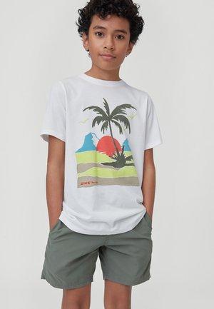 PALM  - Print T-shirt - powder white
