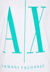 Armani Exchange - Print T-shirt - white/eden green - 2