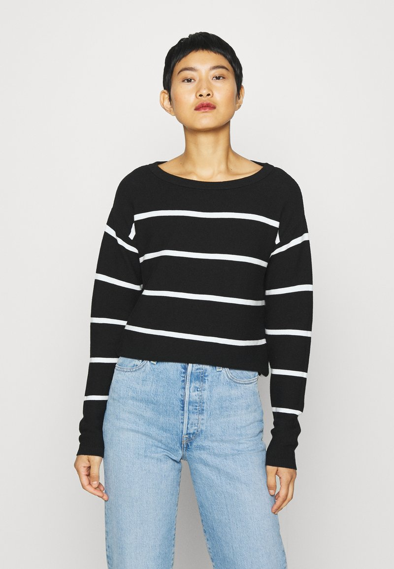 Kaffe - KAMARIA - Jumper - black/chalk