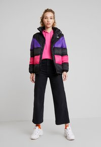 Fila - REILLY PUFF JACKET - Winter jacket - black/tillandsia purple/pink yarrow - 1