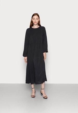 OVERSIZED MIDI SMOCK DRESS - Day dress - black