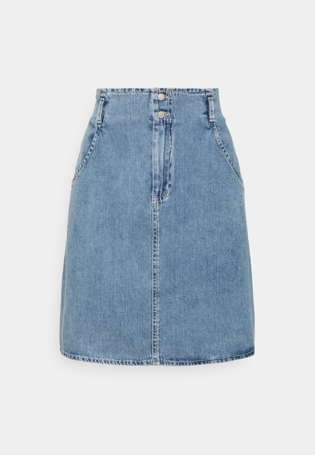 NMASHLEY SKIRT - Minihame - light blue denim