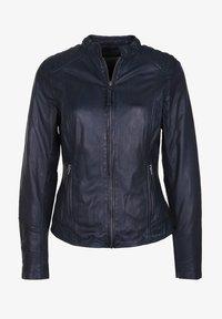 7eleven - ANJA - Leather jacket - navy - 4