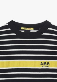 Scotch & Soda - LONG SLEEVE TEE WITH CONTRAST CHEST STRIPE - Long sleeved top - blue - 2