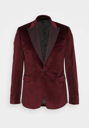 TAILORED FIT EVENING JACKET - Suit jacket - bordeaux