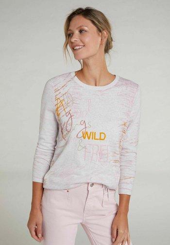 Sweatshirt - rose white