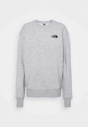 OVERSIZED ESSENTIAL CREW - Sweater - light grey heather