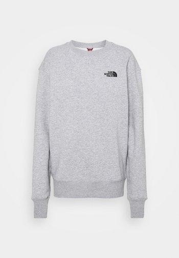 OVERSIZED ESSENTIAL CREW - Sweatshirt - light grey heather