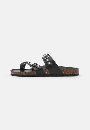 BRYCEEE - Sandály s odděleným palcem - black paris