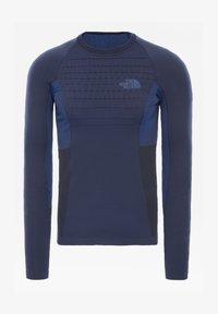 The North Face - M SPORT L/S CREW NECK - Print T-shirt - urban navy/tnf blue - 0