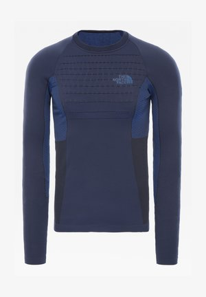 M SPORT L/S CREW NECK - Print T-shirt - urban navy/tnf blue