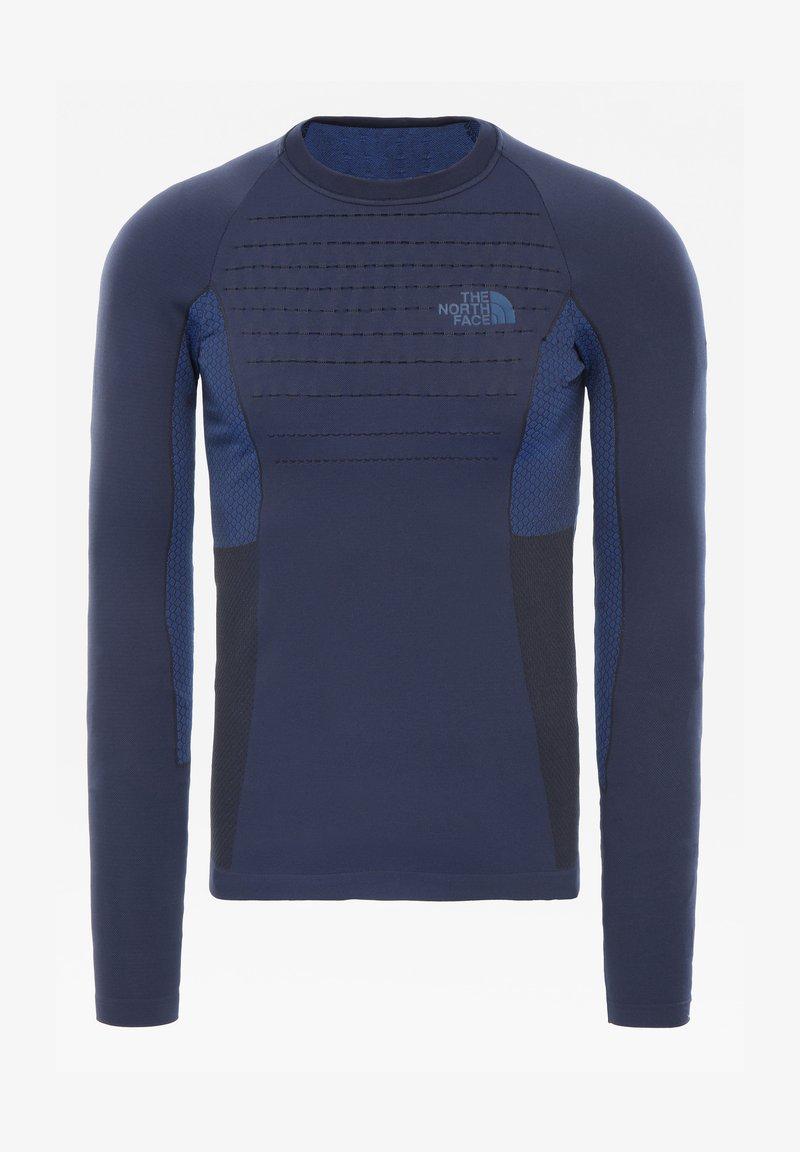 The North Face - M SPORT L/S CREW NECK - Print T-shirt - urban navy/tnf blue