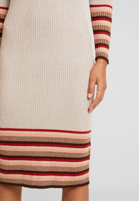 Vila - VIHELENI STRIPE DRESS - Jumper dress - natural melange/toffee - 6