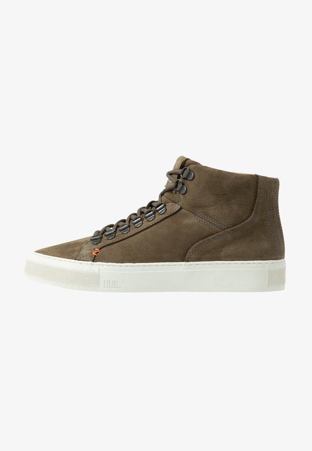 MURRAYFIELD - Sneakers high - dark olive/offwhite