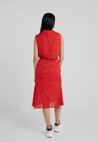 McQ Alexander McQueen - CUT UP SEAM SKIRT - A-line skirt - blazing orange - 2