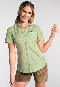 Spieth & Wensky - NEST - Button-down blouse - olive - 0