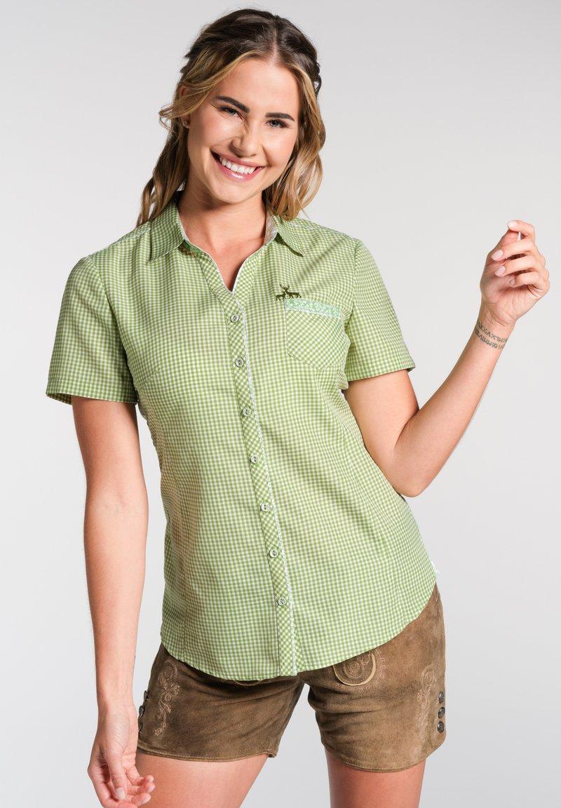 Spieth & Wensky - NEST - Button-down blouse - olive