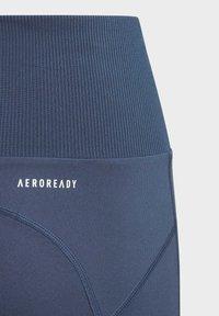 adidas Performance - AEROREADY HIGH-RISE COMFORT WORKOUT YOGA LEGGINGS - Collants - blue - 2