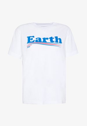 MYSEN VOTE EARTH - Print T-shirt - white