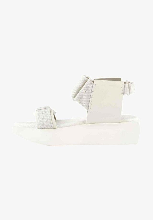 Sandalen met plateauzool - blanc