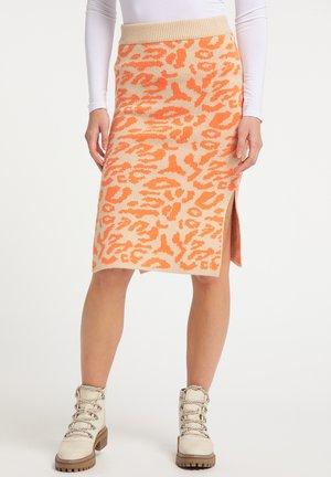 Pencil skirt - beige orange