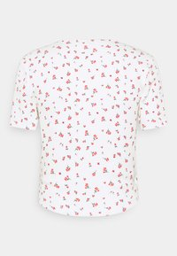 ONLY - ONLFENJA LIFE WRAP - Print T-shirt - cloud dancer/red - 1