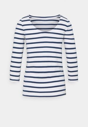 BALLET - Long sleeved top - white/navy