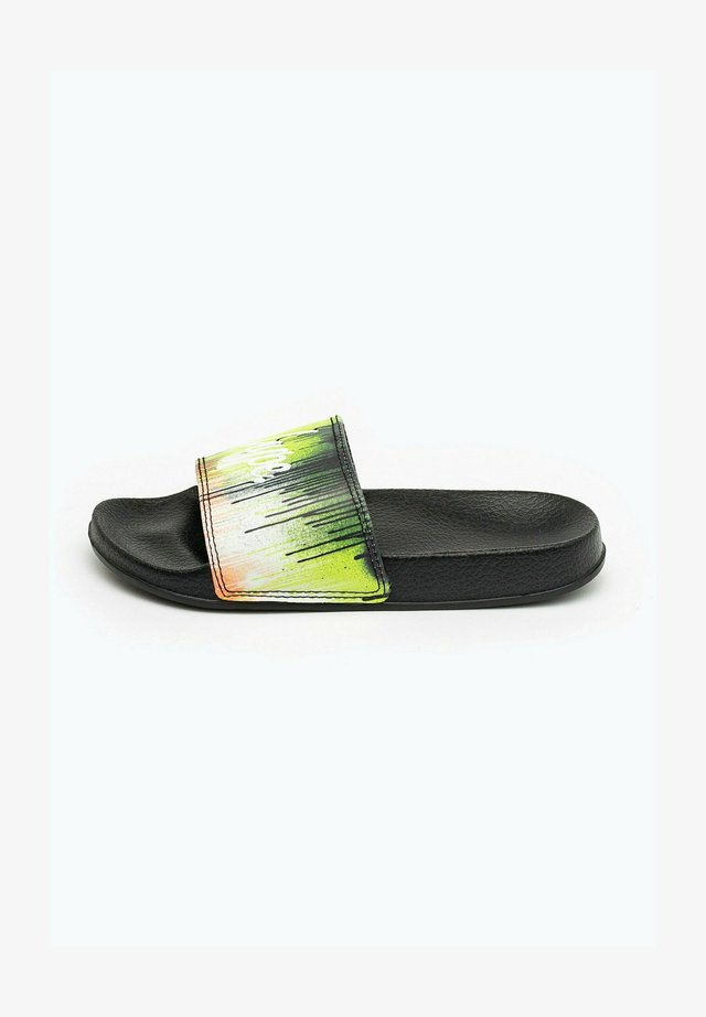 NEON DRIPS - Pool slides - black