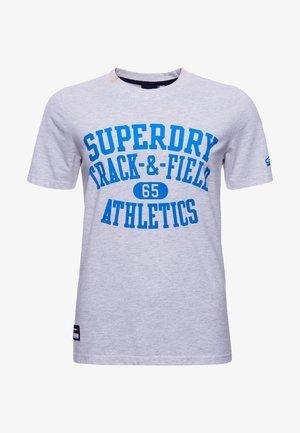 TRACK & FIELD  - Print T-shirt - glacier grey marl