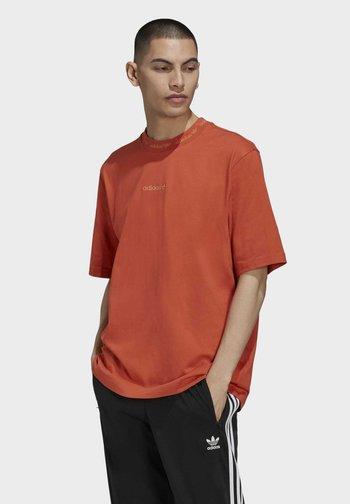 RIB DETAIL T-SHIRT - T-shirt med print - red
