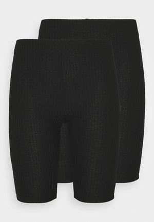 ONLNELLA BIKE SHORTS PETITE 2 PACK - Legíny - black