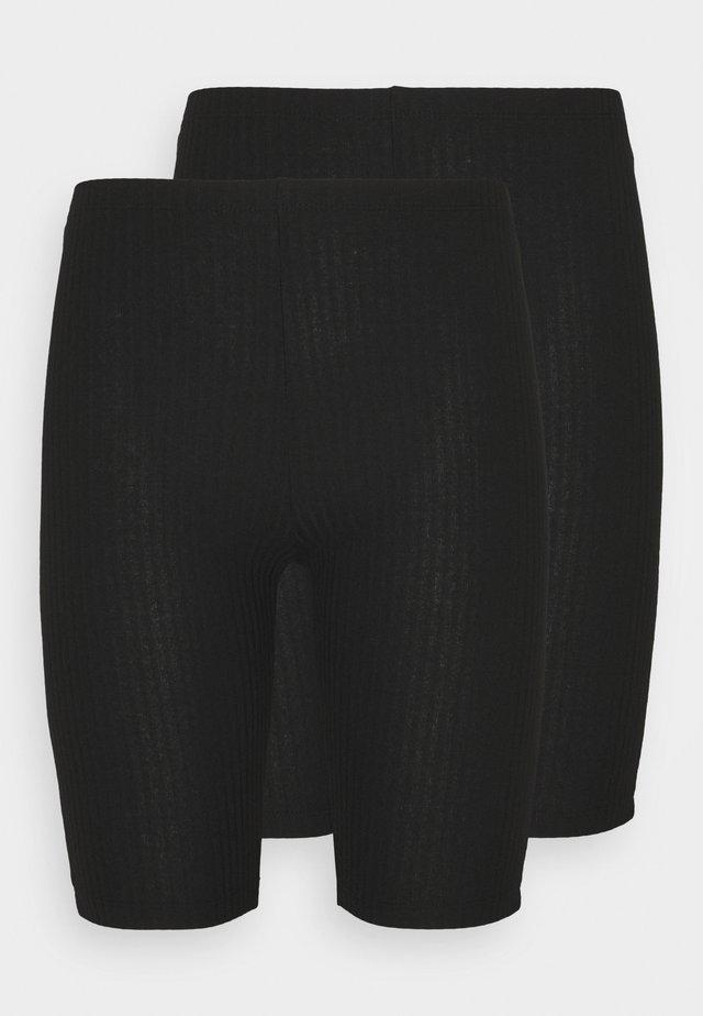 ONLNELLA BIKE SHORTS PETITE 2 PACK - Leggings - black