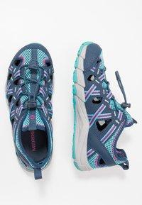 Merrell - HYDRO CHOPROCK - Walking sandals - navy/turquoise - 0