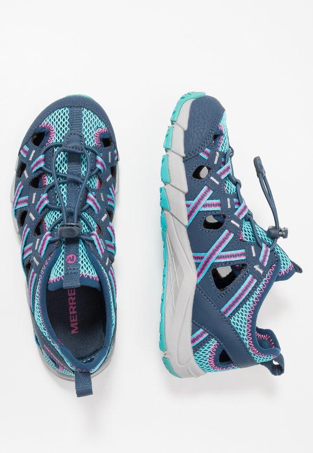 HYDRO CHOPROCK - Walking sandals - navy/turquoise