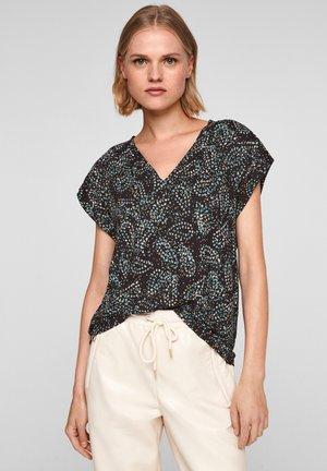 Print T-shirt - black aop