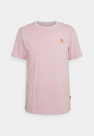 EMBROIDERED STAR LEFT CHEST TEE - Basic T-shirt - himalayan salt